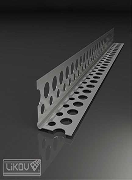 Ъгъл алуминиев усилен 25х25 - 0,4мм,- 2,50м