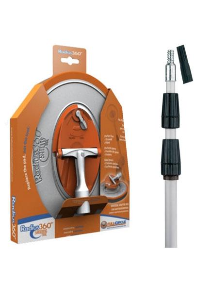 Комплект: кръгла глава за механично шкурене + 3м алуминиева тел. дръжка