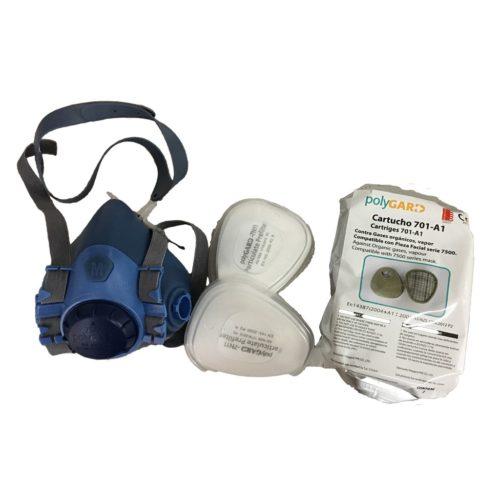 7500 Polygard к-кт респираторна полу-маска с филтри