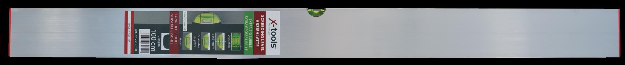 2510-100 мастар за замазка с една либела 80 х18мм, 100 см